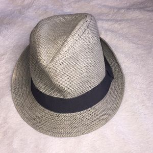 Gray Paper Straw H&M Fadora Hat